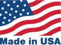 American flag with the text Made in USA